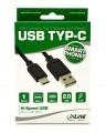 Kabel, USB, Typ C Stecker an USB Stecker A, 1m, schwarz, InLine®